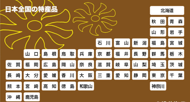 日本全国 47都道府県の特産品を ... : 都道府県 特産品 : 都道府県